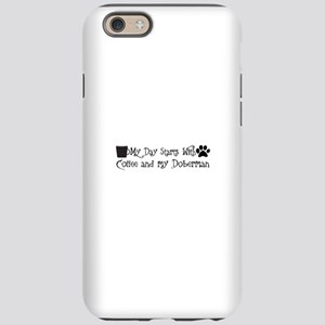 My day starts with coffee a iPhone 6/6s Tough Case