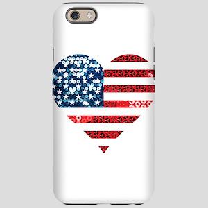 usa flag heart iPhone 6/6s Tough Case
