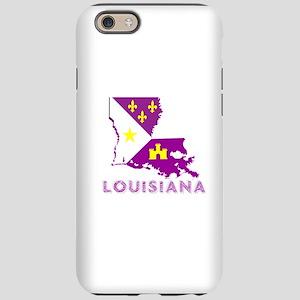 LOUISIANA PURPLE AND GOLD iPhone 6 Tough Case