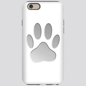 Metallic Dog Paw Print iPhone 6 Tough Case