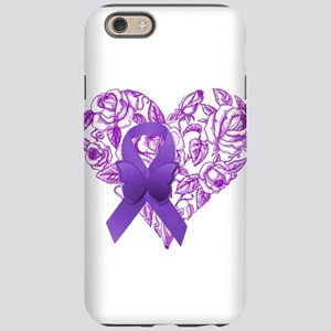 Purple Awareness Ribbon with Roses iPhone 6 Tough