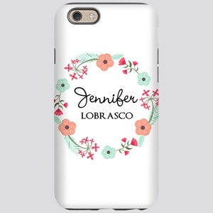 Personalized Floral Wreath iPhone 6/6s Tough Case
