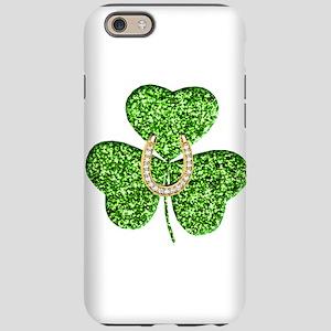 Glitter Shamrock And Horseshoe iPhone 6 Tough Case
