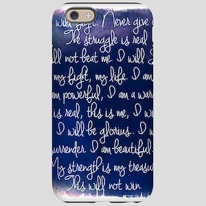 The Struggle, dark blue iPhone 6 Tough Case