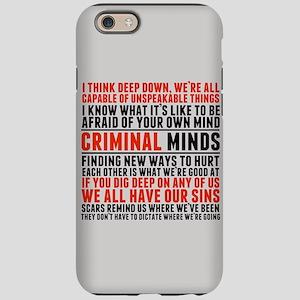 Criminal Minds Quotes iPhone 6/6s Tough Case