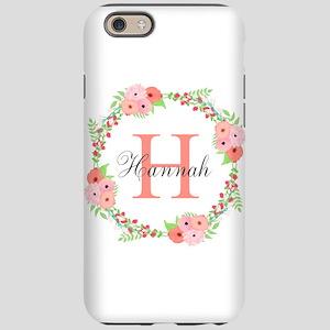 Watercolor Floral Wreath Monogram iPhone 6/6s Toug