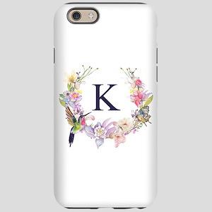Hummingbird Floral Wreath Monogram iPhone 6/6s Tou