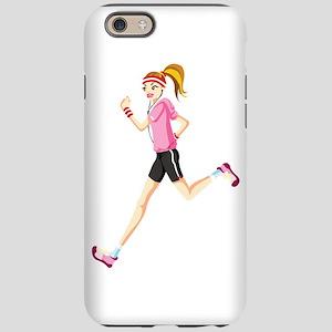 Running sport girl iPhone 6/6s Tough Case