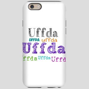 Uffda multi-color text iPhone 6/6s Tough Case
