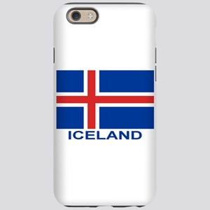 iceland-flag-labeled iPhone 6 Tough Case