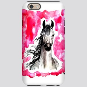 Red Watercolor Horse iPhone 6 Tough Case
