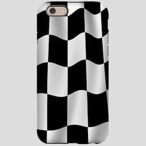 Black Racing Flag Checkerboard iPhone 6 Tough Case