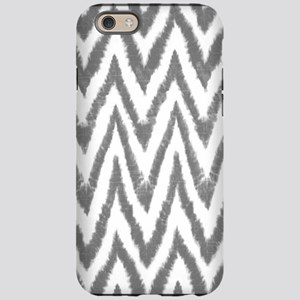 Funky Fuzzy Gray Zigzags iPhone 6 Tough Case