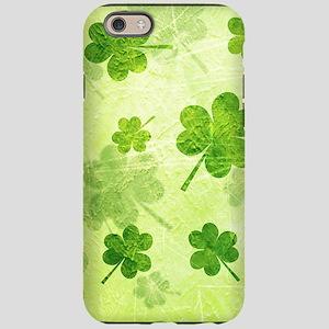 Green Shamrock Pattern iPhone 6 Tough Case