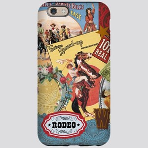 Vintage Western cowgirl collage iPhone 6 Tough Cas