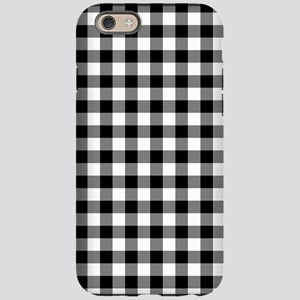 Black and White Gingham Checke iPhone 6 Tough Case