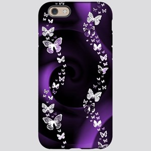 Purple Butterfly Swirl iPhone 6 Tough Case