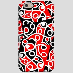 Layered Red And Black Maori Ko iPhone 6 Tough Case