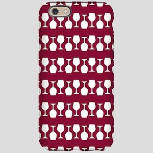 Wine Glass Stripes Pattern iPhone 6/6s Tough Case
