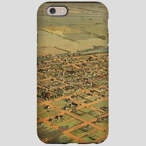 Vintage Pictorial Map of Phoen iPhone 6 Tough Case