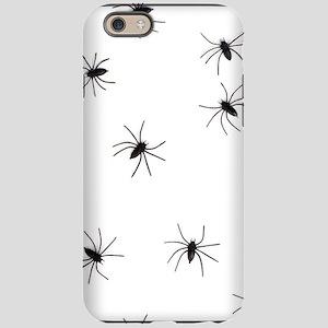 creepy spiders black white iPhone 6 Tough Case