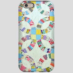 Colorful patchwork quilt iPhone 6/6s Tough Case