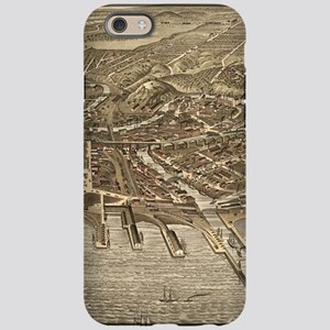Vintage Pictorial Map of Cleve iPhone 6 Tough Case