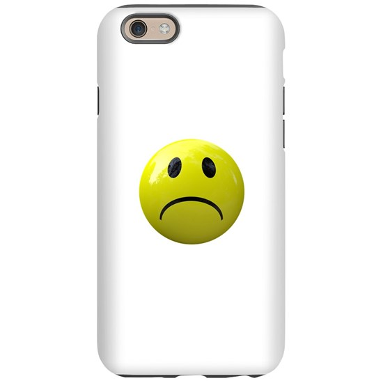 Unhappy Face Emoji Iphone 6 Tough Case By Glitterhollywood Cafepress