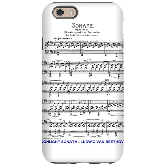 Moonlight-Sonata-Ludwig-Beetho iPhone 6 Tough Case