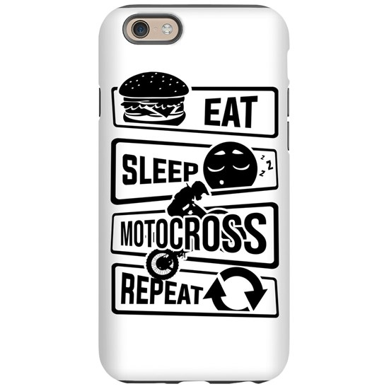 Eat Sleep Motocross Repeat - Motorcycle Motorsport