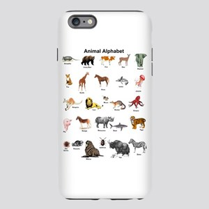 Animal pictures alphabet iPhone Plus 6 Tough Case