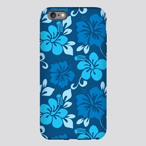 Shades of blue Hawaiian Hibiscus iPhone 6 Plus/6s