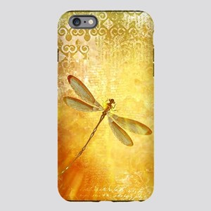 Golden dragonfly iPhone Plus 6 Tough Case