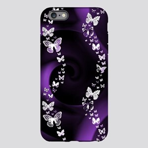 Purple Butterfly Swirl iPhone Plus 6 Tough Case