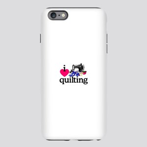 I Love Quilting/Machine iPhone Plus 6 Tough Case