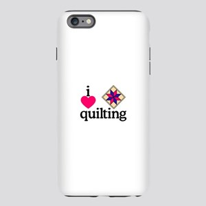 I Love Quilting/Square iPhone Plus 6 Tough Case