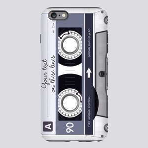 Cassette Tape - Grey iPhone Plus 6 Tough Case