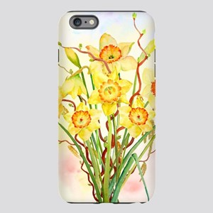 Watercolor Daffodils Yell iPhone Plus 6 Tough Case