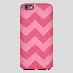 Rosy Two Tone Pink Chevro iPhone Plus 6 Tough Case