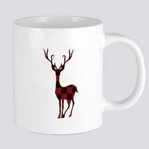 Buffalo Plaid Buck Mugs