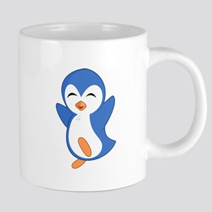 Happy Blue Baby Penguin Mugs