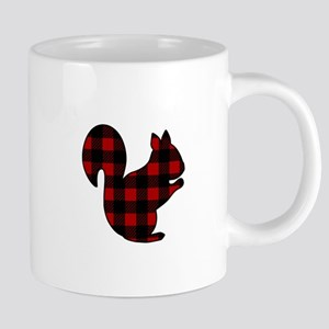 Plaid Squirrel Mugs