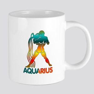 Rainbow Aquarius 20 oz Ceramic Mega Mug