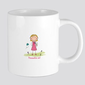 Cute girl - personalize 20 oz Ceramic Mega Mug