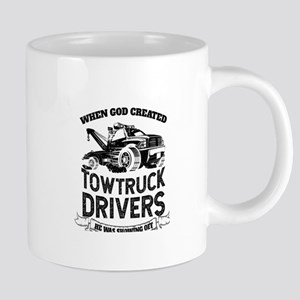 God Created Tow Truck Drivers Mugs