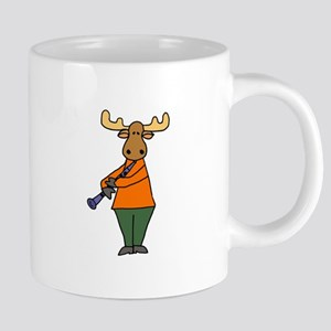 Moose Playing clarinet Mugs
