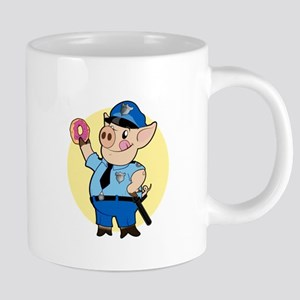 Cop Chops 20 oz Ceramic Mega Mug
