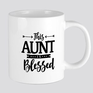 Aunt Is Blessed Christian Mothers Day Mugs