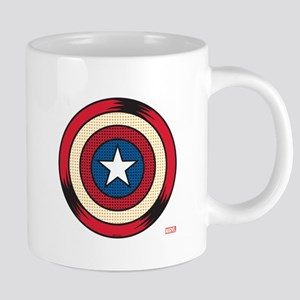Captain America Comic Shield 20 oz Ceramic Mega Mu