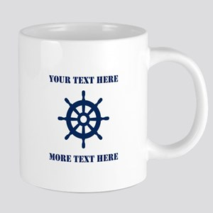 Custom nautical ship wheel 20 oz Ceramic Mega Mug
